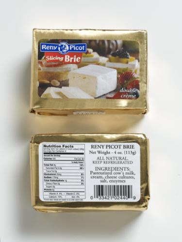 4oz double creme Slicing Brie