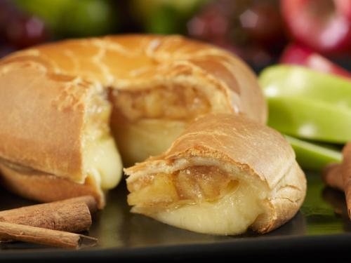 Apple Brie closeup