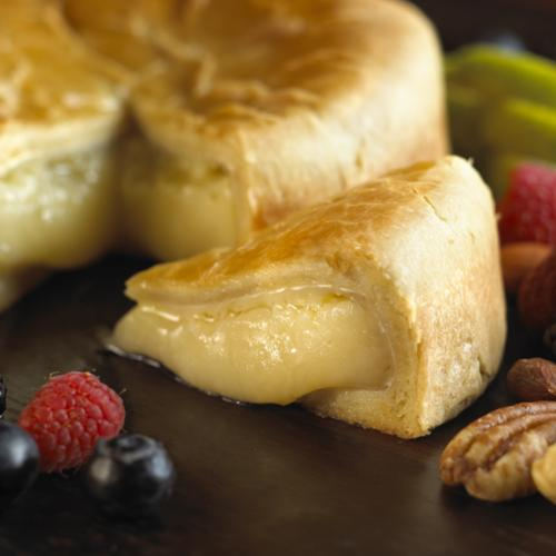 Baked Brie and PastryCloseup 2