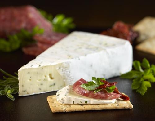 Double creme brie with herbs