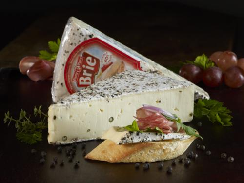 Pepper brie with product